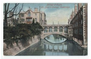 Bridge of Sighs, St John's College, Cambridge - Vintage Postcard