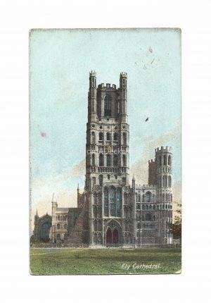 Ely Cathedral - Vintage Postcard