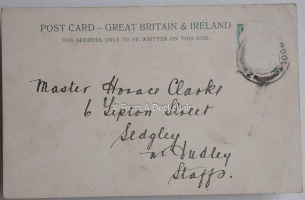 Blackpool North Shore - Vintage Postcard back