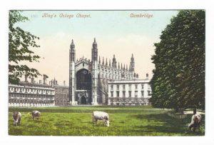 King's College Chapel, Cambridge - Vintage Postcard