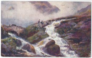 Falls of the Ogwen, Wales Vintage Postcard