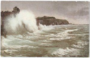 Hastings Storm. Vintage Postcard