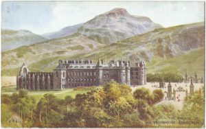 Holyroodhouse, Edinburgh Vintage Postcard