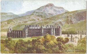 Holyroodhouse, Edinburgh Vintage Postcard