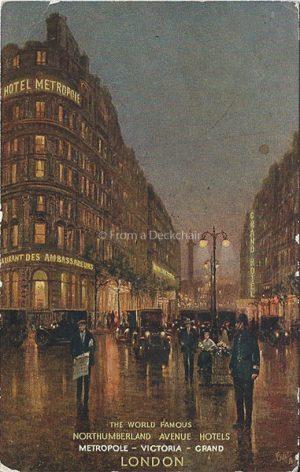 Hotel Metropole, London Vintage Postcar