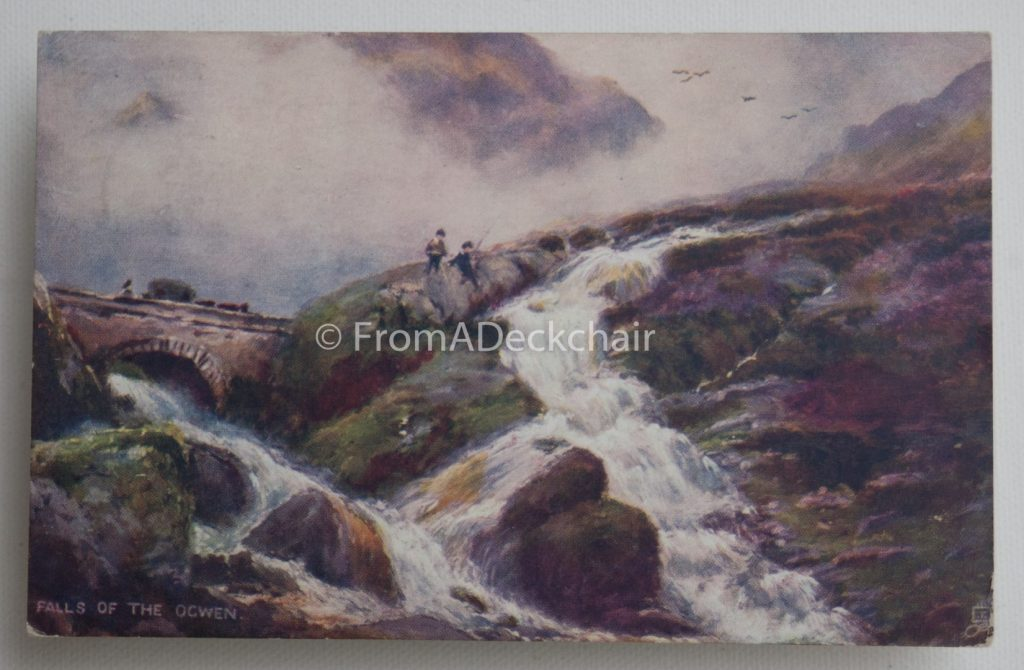 Falls of the Ogwen vintage postcard