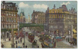 Ludgate Circus, London Vintage Postcard