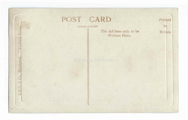 North Shore, Blackpool Vintage Postcard BACK