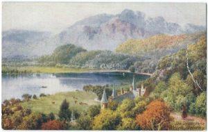 The Trossochs, Loch Achray, Scotland Vintage Postcard