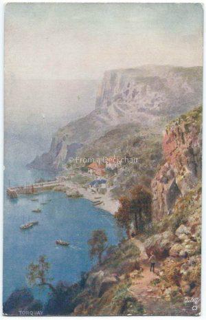 Torquay. Vintage Postcard
