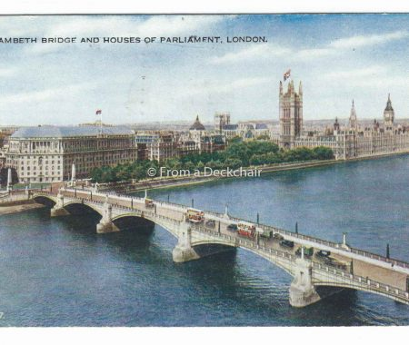 LambetLambeth Bridge & Houses of Parliament, London - Vintage Postcardh Bridge & Houses of Parliament, London - Vintage Postcard