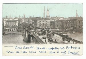 London Bridge Vintage Postcard