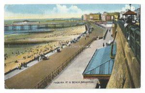 Brighton Beach Vintage Postcard