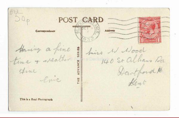 North Pier in Blackpool Vintage Postcard Back