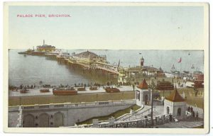 Palace Pier Brighton Vintage Postcard
