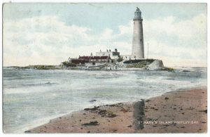 St Mary's Island, Whitley Bay Vintage Postcard
