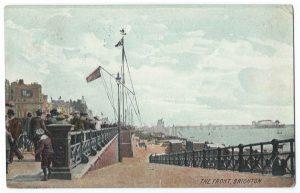 The Front Brighton Vintage Postcard