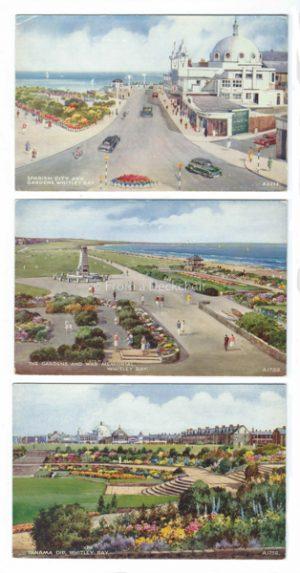 Whitley Bay Vintage Postcard Trio