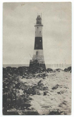 Beachy Head Lighthouse Vintage Postcard