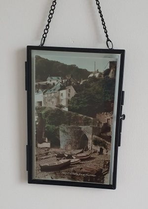 Clovelly Vintage Postcard Hung 2