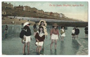 On the Sands, Brighton Vintage Postcard