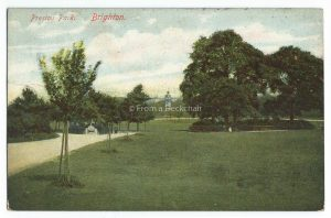 Preston Park Brighton Vintage Postcard