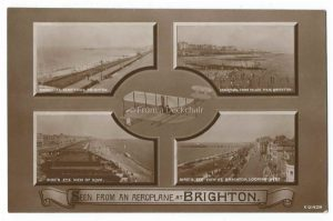 Seen from an aeroplane at Brighton Vintage Postcard