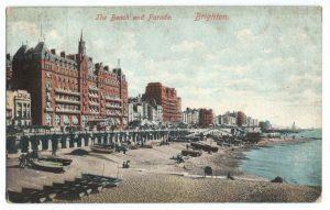 Brighton Beach and Parade Vintage Postcard