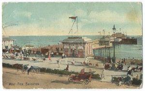 West Pier in Brighton Vintage Postcard