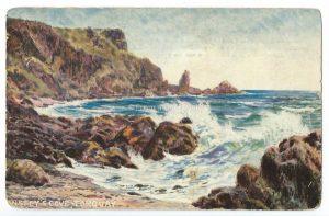Anstey's Cove, Torquay Vintage Postcard