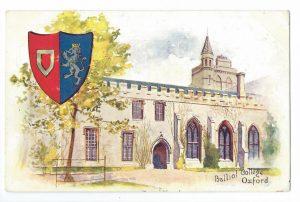 Balliol College, Oxford Vintage Postcard