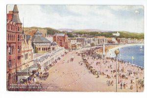 Harris & Central Promenade, Douglas Vintage Postcard