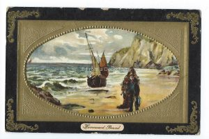 Homeward Bound Seascape Vintage Postcard