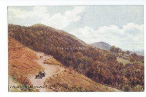 Jubilee Drive & British Camp Malvern Vintage Postcard