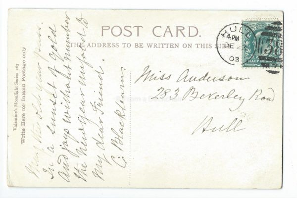 Princes Street, Edinburgh Vintage Postcard Back
