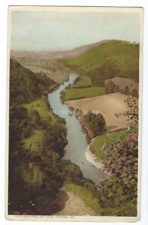 River Wye from Yat Rock Vintage Postcard