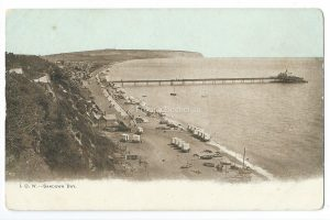 Sandown Bay, IOW Vintage Postcard