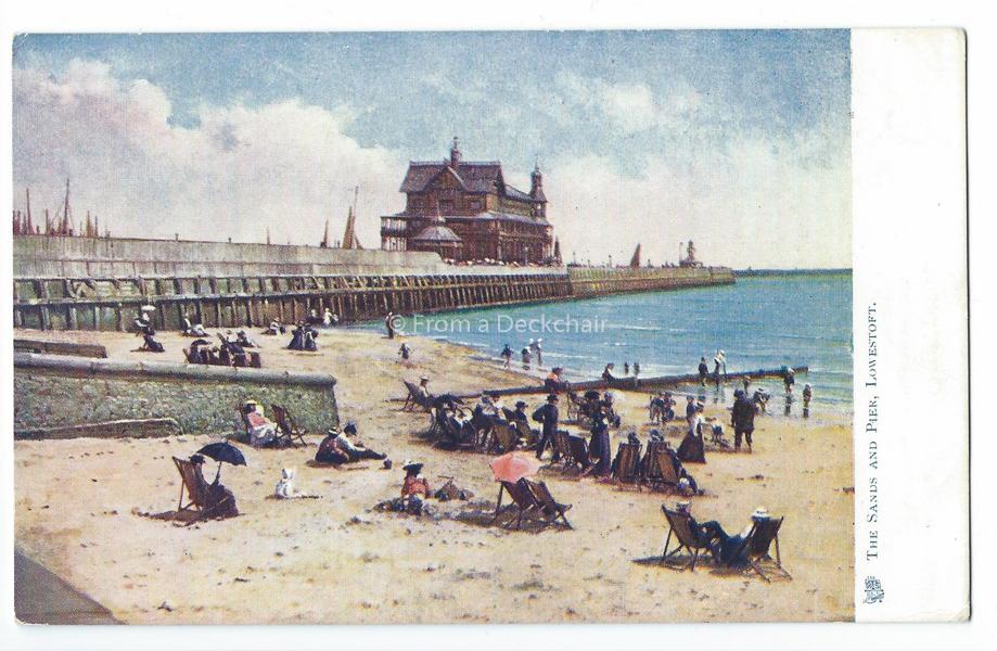 The Sands & Pier, Lowestoft Vintage Postcard