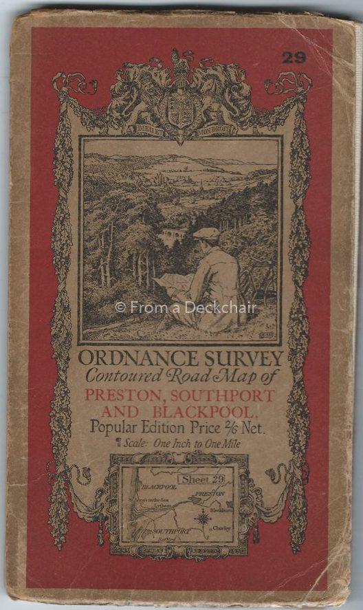 Ordnance Survey Map of Preston, Southport & Blackpool