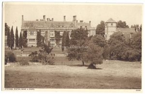 Steyning Wiston House & Chapel Vintage Postcard