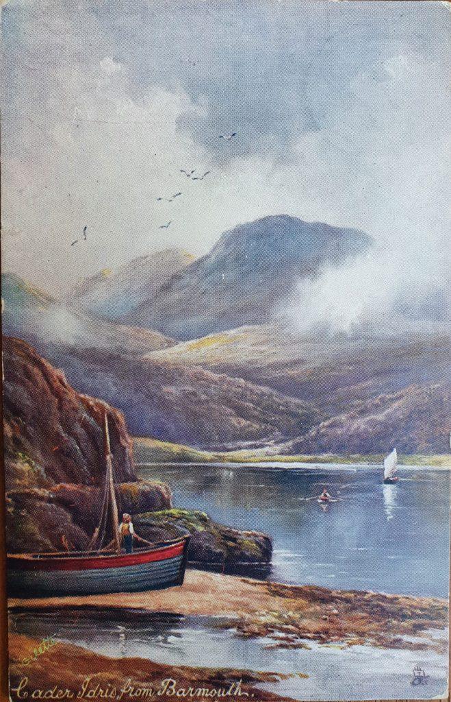 Cader Idris from Barmouth Vintage Tucks Postcard