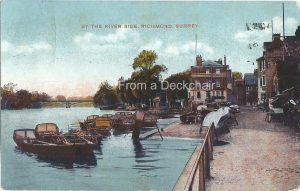 Vintage Postcard - By the River Side at Richmond