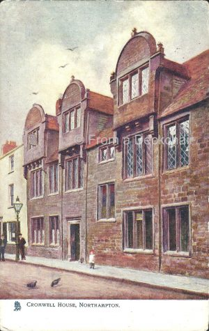 Vintage Postcard of Cromwell House, Northampton