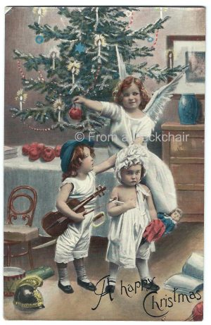 Vintage Christmas postcard - A happy Christmas