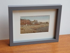 Hotels and Beach Brighton Framed Vintage Postcard