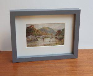 Llanrwst Bridge, Wales Framed Vintage Postcard