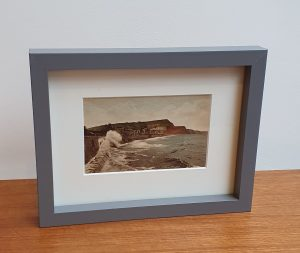 Sidmouth Rough Sea Framed Vintage Postcard
