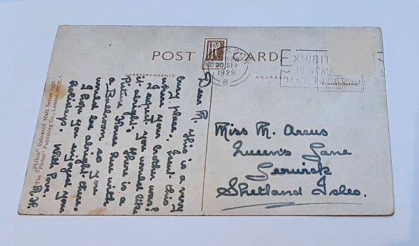 Union Street Glasgow Vintage Postcard Back