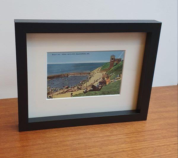 Boating Pool at Blackpool Framed Vintage Postcard