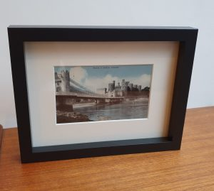 Bridge & Castle at Conwy Framed Vintage Postcard